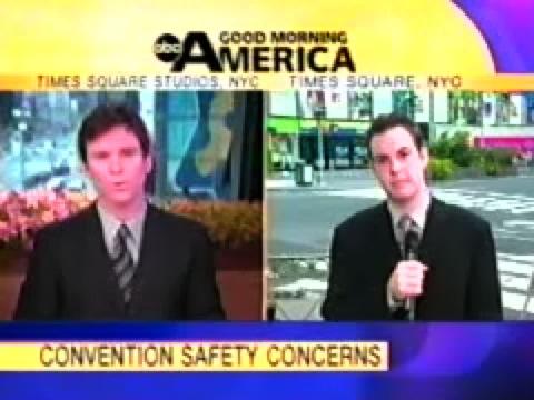 GMA: RNC 2004: Convention Security Preps